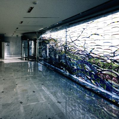 Síla energie, vstupní hala byznys centra, Osaka, Japonsko / Energy Power, Business Hall of the Center, Osaka, Japan